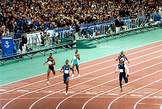 Athletics at the 2000 Summer Olympics – Men's 400 metres - The finish of the race