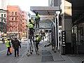 47 St sidewalk shed work 2020 jeh.jpg