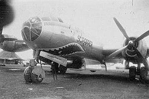"""869th Bombardment Squadron - 869th Bomb Squadron B-29 42-24599 """"Scrapper""""."""