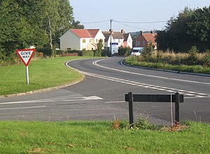Alpheton - A134 curving north through Alpheton