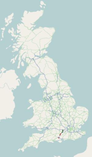 A33 road - Image: A33 road map