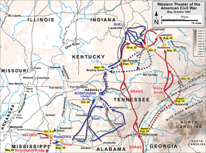 Braxton Bragg - Western Theater operations from the Siege of Corinth through the Kentucky Campaign