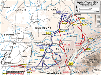 Confederate Heartland Offensive Wikipedia - Map of western kentucky