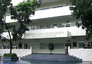 Angeles University Foundation - The Information Technology Training Center is home to the College of Computer Studies.