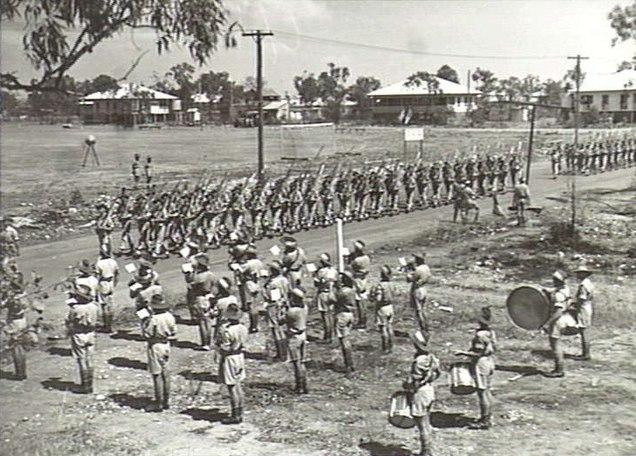 AWM 080049 10th-48th Battalion band Melville Sep 1944