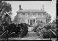 AXIAL VIEW, EAST FRONT - Kenmore, 1201 Washington Avenue, Fredericksburg, Fredericksburg, VA HABS VA,89-FRED,1-56.tif