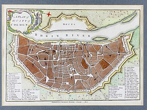 A Plan of the City of Cologne, 1800, John Stockdale-9832