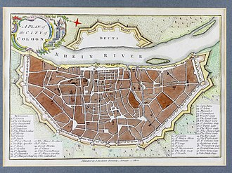 John Stockdale - Image: A Plan of the City of Cologne, 1800, John Stockdale 9832
