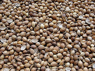 Spice use in Antiquity - Coriander seeds.