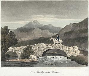 Brecon - A Bridge near Brecon, 1809