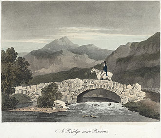 Brecon - A Bridge near Brecon, 1809