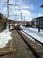 A crossing of Fuji Rapid Line near Kawaguchiko Station.jpg