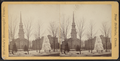 A frozen fountain in the square, with a church and other buildings visible beyond in New Britain, by Worden, N. R. (Nicholas R.).png