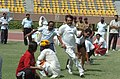 A game of Kho-Kho in progress at the Sports meet for Parliamentarians and Media Persons, in New Delhi on August 30, 2005 (1).jpg