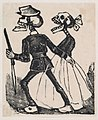 A male skeleton leading a female skeleton to the left, from a broaside entitled 'La Calavera de Cupido', published by Antonio Vanegas Arroyo. MET DP869216-1.jpg