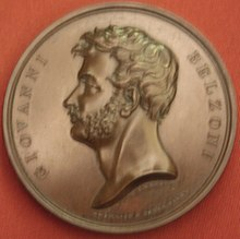 Medal depicting Giovanni Belzoni, British Museum