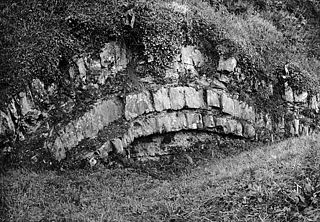 A natural arch in the rock, Llanbryn-mair