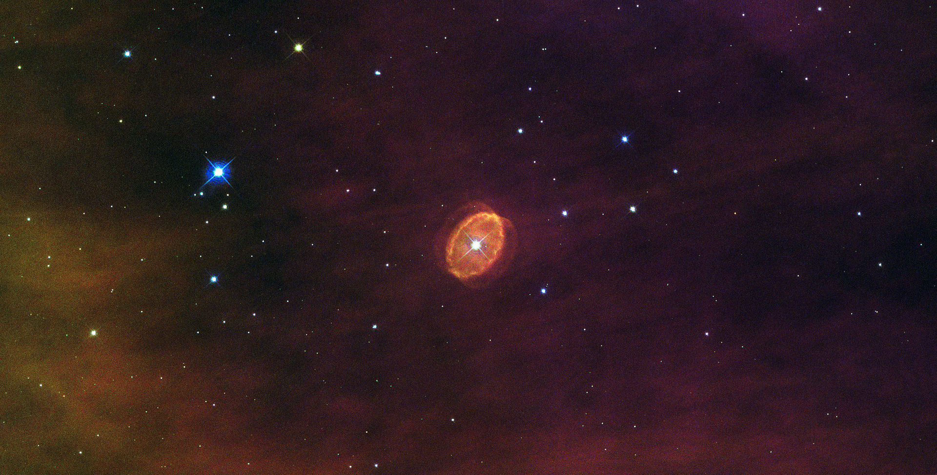 """""""A star set to explode"""", the SBW1 nebula surrounds a massive blue supergiant in the Carina Nebula."""