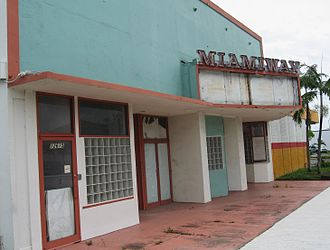History of cinema in the United States - Abandoned theater in North Miami, Florida