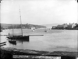Abersoch harbour after the great gale of October 1896