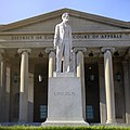 Abraham Lincoln Statue in front of the District of Columbia Court.jpg
