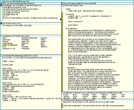 Screenshot di Acme (software)