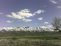 Across Cache Valley at Bear River Range in Utah