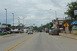 Looking north in Adams on WIS 13