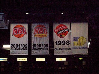 Adelaide 36ers - Adelaide 36ers NBL Championship banners