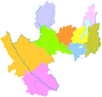 Yuxi - Image: Administrative Division Yuxi
