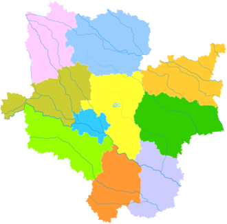 Zhoukou - Image: Administrative Division Zhoukou