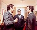Adolfo Suárez conversa con el lehendakari del Gobierno Vasco en presencia del ministro de Administración Territorial en el Palacio de Ajuria Enea - Pool Moncloa (1980-12-09).jpeg