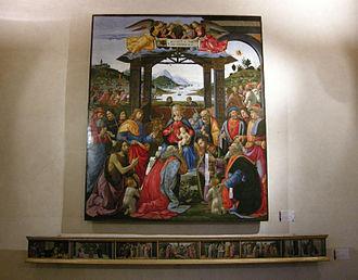 Ospedale degli Innocenti - Adoration of the Magi by  Domenico Ghirlandaio.