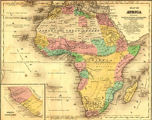 African Map in 1840