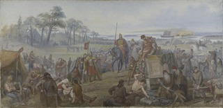 After the Battle of Fyrisvall. Proposed Decoration of the Walls in the Upper Hall of the NM
