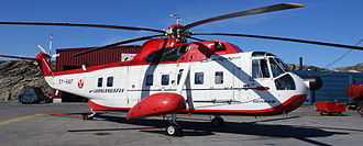 Nuuk Airport - The Sikorsky S-61N helicopter connected Nuuk with smaller towns for more than four decades.