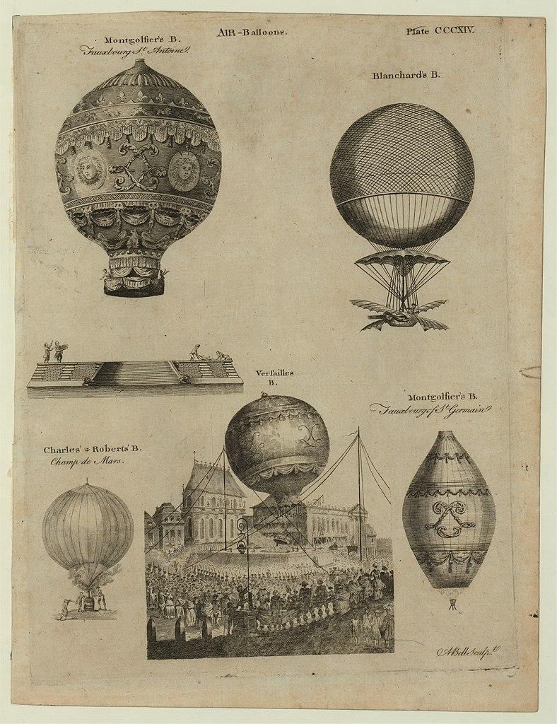 Los primeros 5 vuelos de globos aerostáticos de los hermanos Montgolfier.