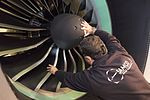 AirBaltic Bombardier CS300 mainenance (32406529743).jpg