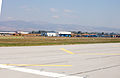 Airport Sofia LBSF taxi to RWY 27 view to right wing 2012 PD 27.jpg