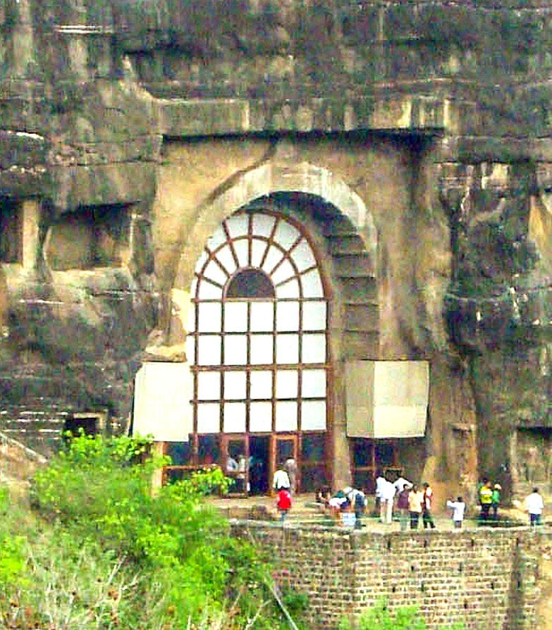 Ajanta Cave 10 outside view