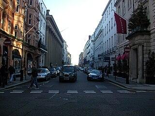 Albemarle Street street in Mayfair in central London