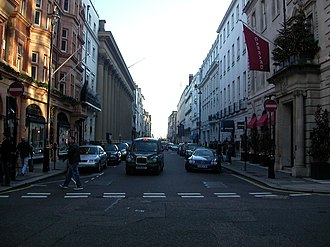 Albemarle Street - Southward view of Albemarle Street, from the Grafton Street junction.
