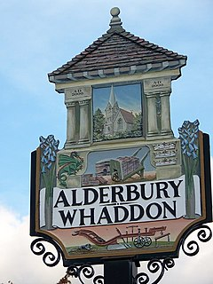 Alderbury and Whadden Village Sign - geograph.org.uk - 928879.jpg