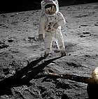 Aldrin photographed by Armstrong on the Moon