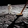 Aldrin near Module leg.jpg