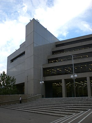 Alexander Library Building - view from the steps on James Street