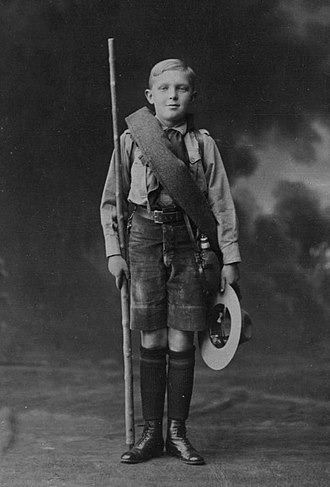 Alfonso, Prince of Asturias (1907–1938) - Alfonso aged 11 wearing the Scout uniform of the Explorers of Spain.