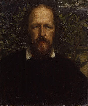 1864 in poetry - Alfred Lord Tennyson portrait by George Frederic Watts, painted 1863 or this year