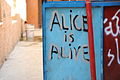 Alice is alive graffito near the Freedom Theatre in Jenin 004 - Aug 2011.jpg