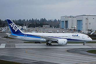 Boeing 787 Dreamliner - All Nippon Airways launched the 787 program with an order for 50 aircraft in 2004.